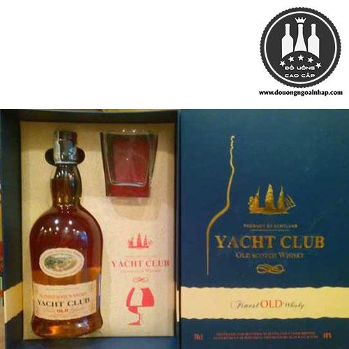 Rượu Yacht Club thiết kế hộp quà - douongngoainhap.com