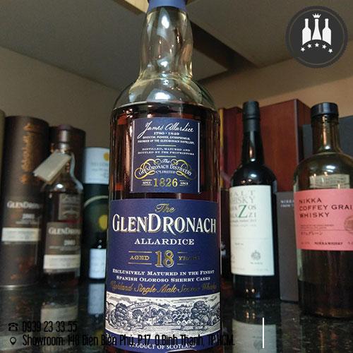 rượu glendronach 18 năm