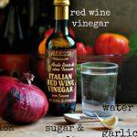 rượu vang đỏ ngâm hành tây