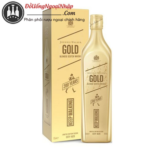 johnnie walker gold 200th anniversary