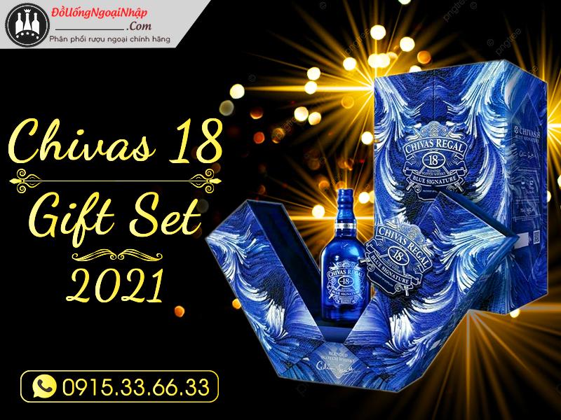 Rượu Chivas 18 - Mẫu mới năm 2021