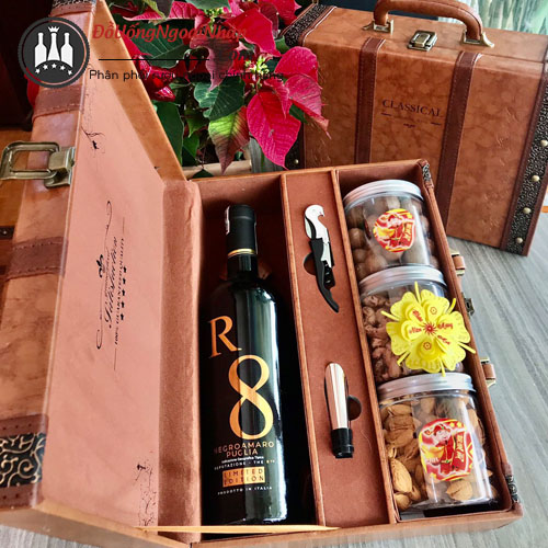 Hộp quà rượu Vang R8