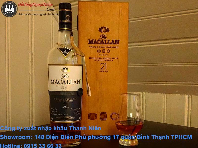 giá rượu macallan 21