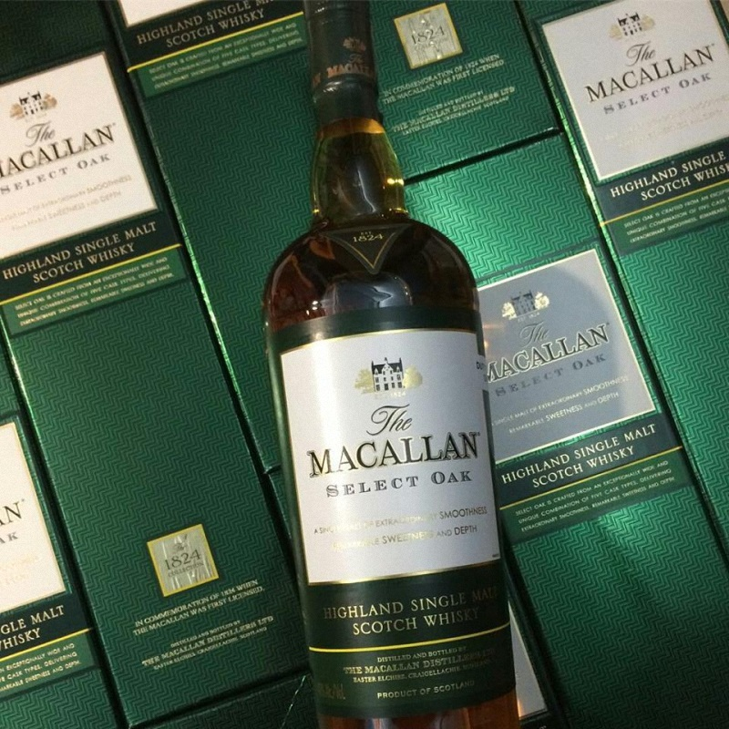 rượu macallan 1824 select oak xanh